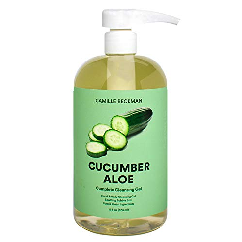 Camille Beckman Complete Hand & Body Cleansing Gel, Cucumber Aloe, 16 Ounce