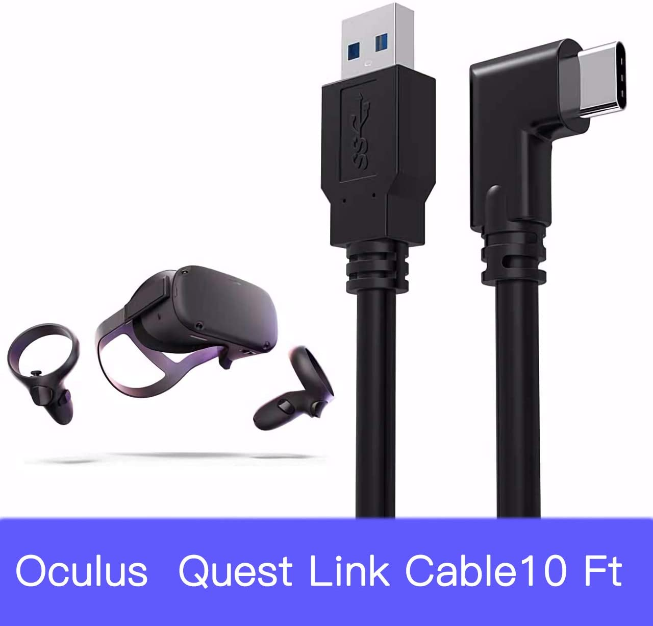 Quest Linke Cable, AncoDirect Oculus Link Cable, High-Speed Data Transfer and Fast Charging Cable Compatible for Oculus Quest and More