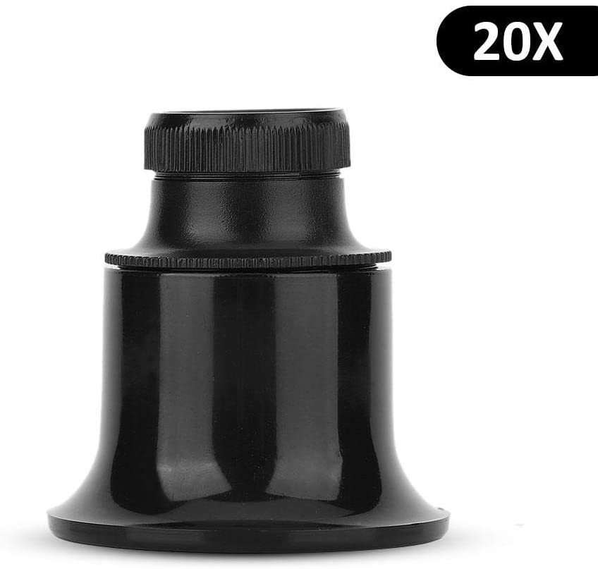 Magnifying Glass, 10 x /15x /20x Eye Magnifier Loupe for Repair Watch Magnifying Glass (3)