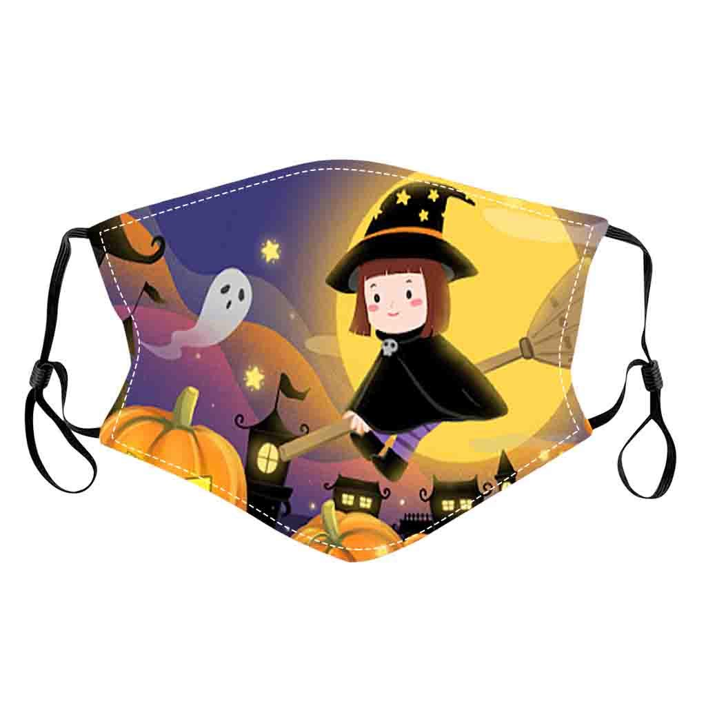 Halloween Day 1PCS Adult Mouth Masks for Dust' Protection Anti-Face Mask Washable Earloop Mask