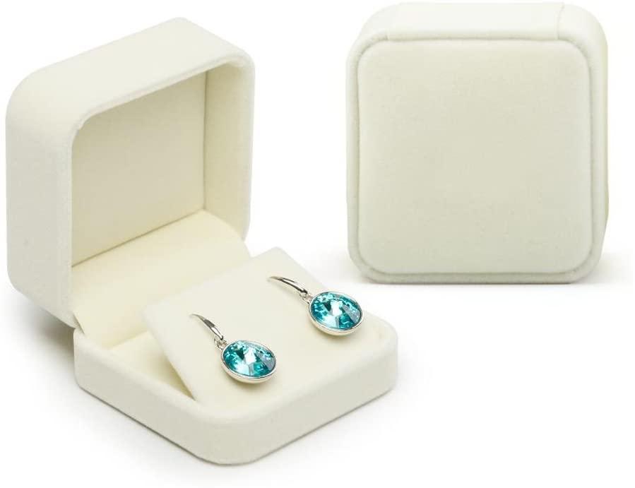 Oirlv Velvet Earring Gift Box Wedding Valentine's Day White Earrings Stud Case