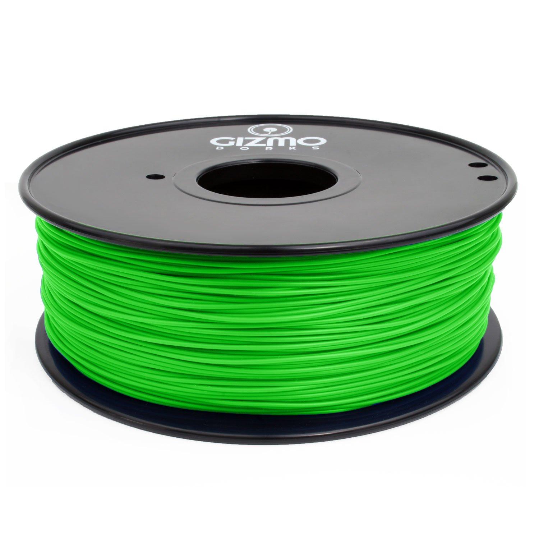 Gizmo Dorks 3mm (2.85mm) Hips Filament 1kg / 2.2lb for 3D Printers, Green