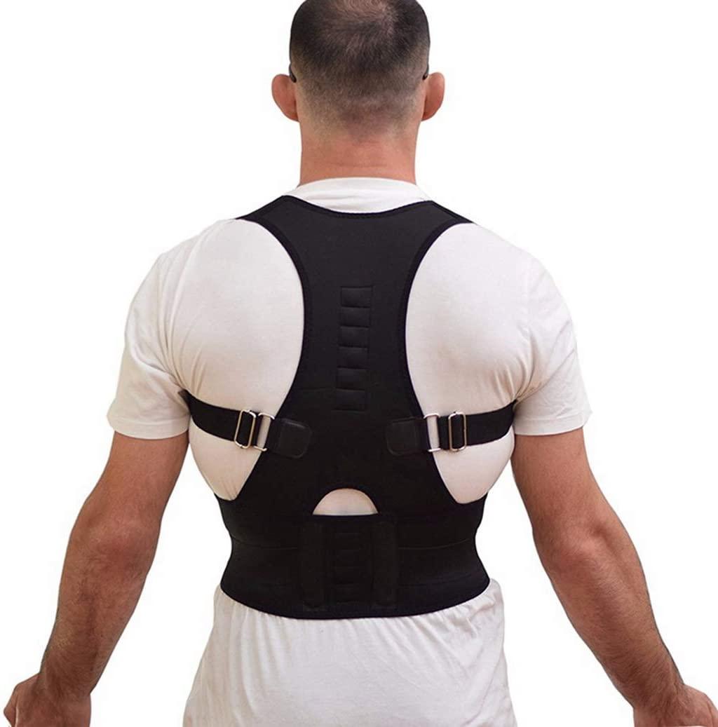 Unisex Posture Corrector Magnetic Therapy Back Brace Spine Shoulder Support Belt