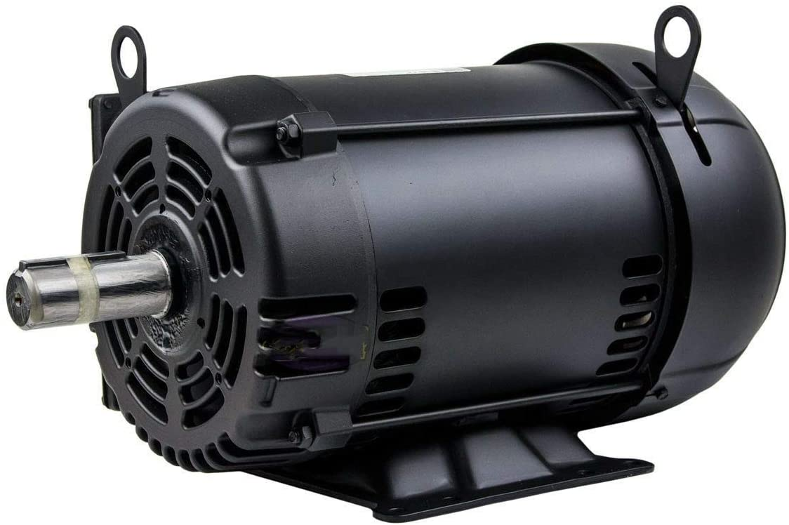 7.5 HP Air Compressor Duty Electric Motor 215T Frame 1760 RPM Single Phase