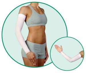 Juzo Soft 2002CG DreamSleeve 30-40mmHg w/ Silicone Top Band Model: 2002CG - STANDARD, Size: IV - Large, Length: L-Long, Color: Pink 43