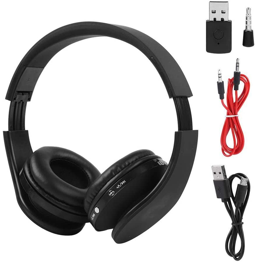 Headphones with Mic for Ps4,Foldable Bluetooth4.1 Wireless Gaming Headset Headphone HiFi Stereo Earphone for PS4.