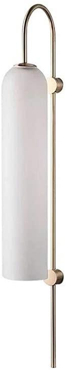 BOKT Modern Wall Sconces 1-Light Wall Mounted Light Mid Century Modern Wall Decor Stylish Lighting Lamp Long Tube Glass Vanity Light Fixture (Milk White, Hardwired)