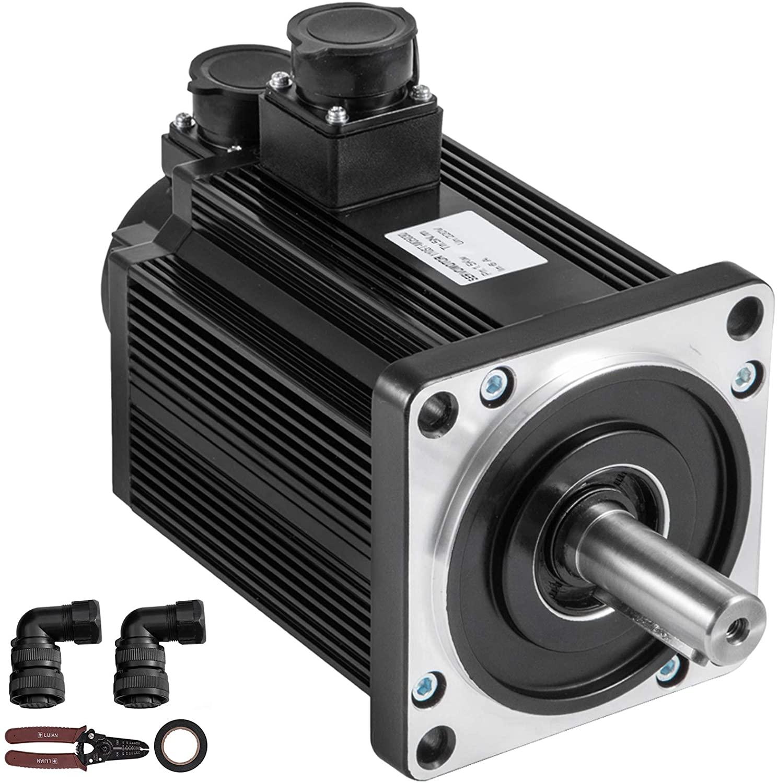 Mophorn Servo Motor, 110ST-M05030 AC Servo Motor 1.5KW 5N.m 3000rpm Pro Servo Motor Control CNC Processing Equipment, Cutting Machine, Food Processing Machine, Conveying Equipment, 220V