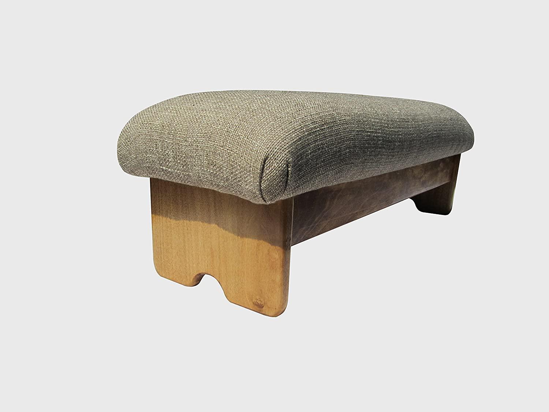 KR Ideas Bedside Padded Foot Stool, Maple Stain 9