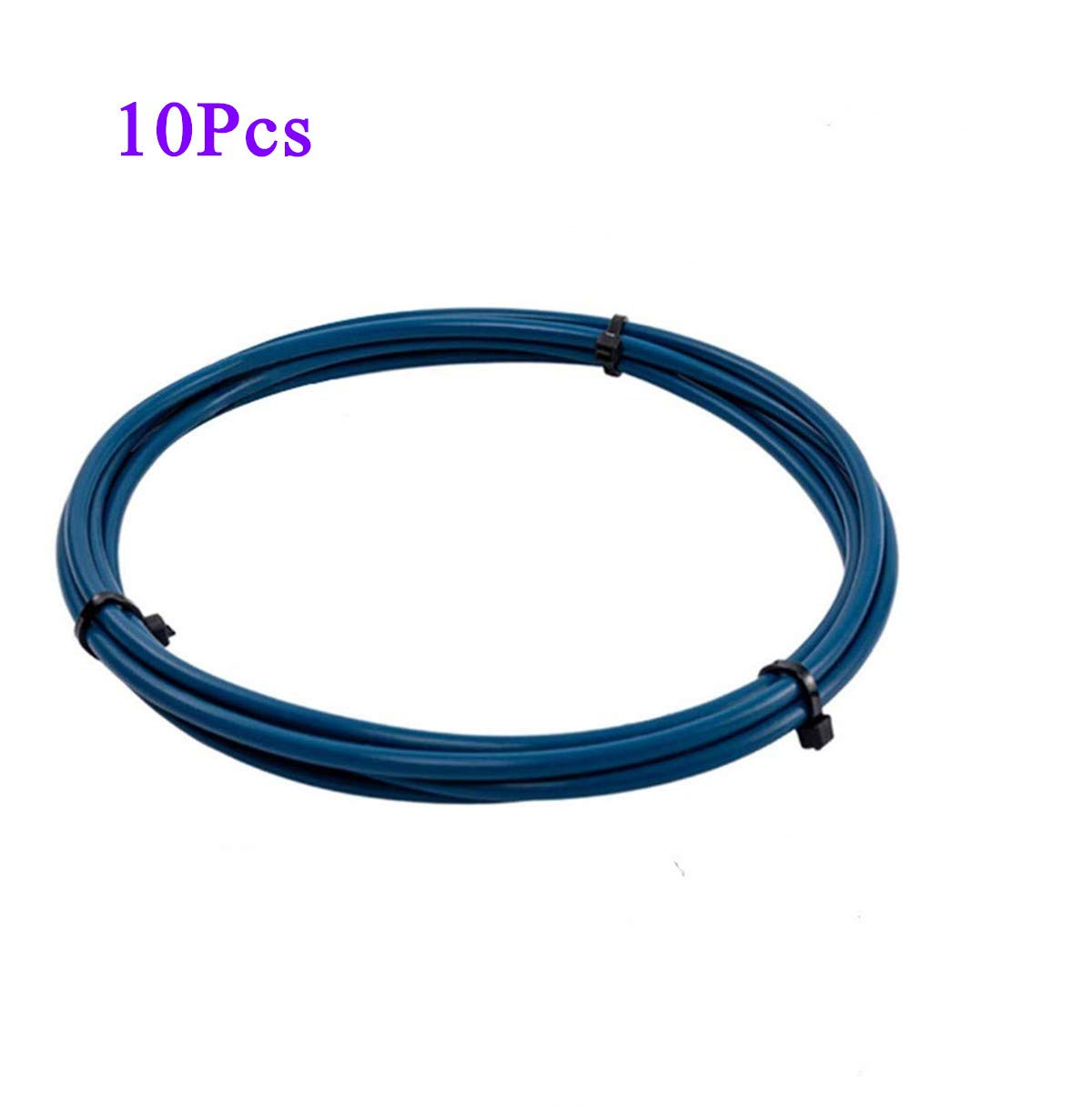PTFE Tube Teflon Tube XS Series 1 Meter 2mm ID X 4mm OD for 1.75mm Filament Capricorn Premium Tubing Compatible with All PLA ABS 3D Printer (blue-10PCS)