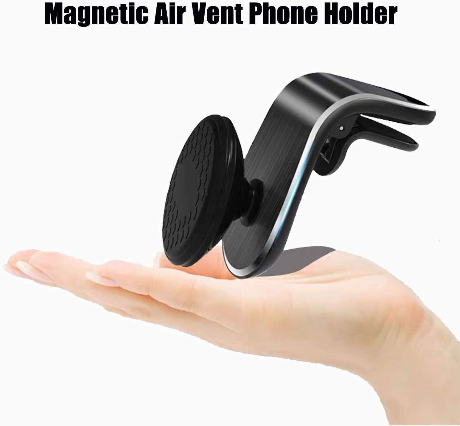 Car Phone Holder Upgraded Magnetic Air Vent Car Mount for iPhones,Samsung Galaxy, Google Pixel, Nexus, OnePlus, Huawei and More Black