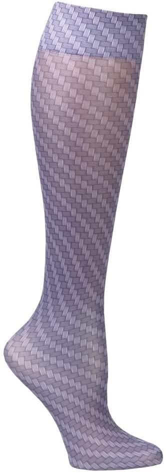Celeste Stein Women's Mild Compression Knee High Stockings - Carbon Fiber