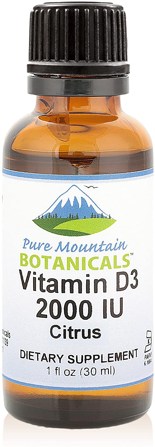 Flavored Vitamin D Drops – Orange and Lemon Flavored Liquid Vitamin D3-2000iu per Serving - 1oz Bottle