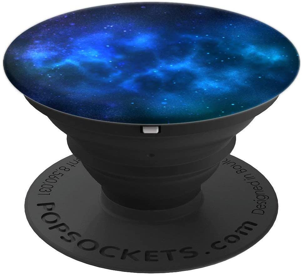 Cool Boys Girls Gift Galaxy Black Blue Navy Nebula Space PopSockets Grip and Stand for Phones and Tablets
