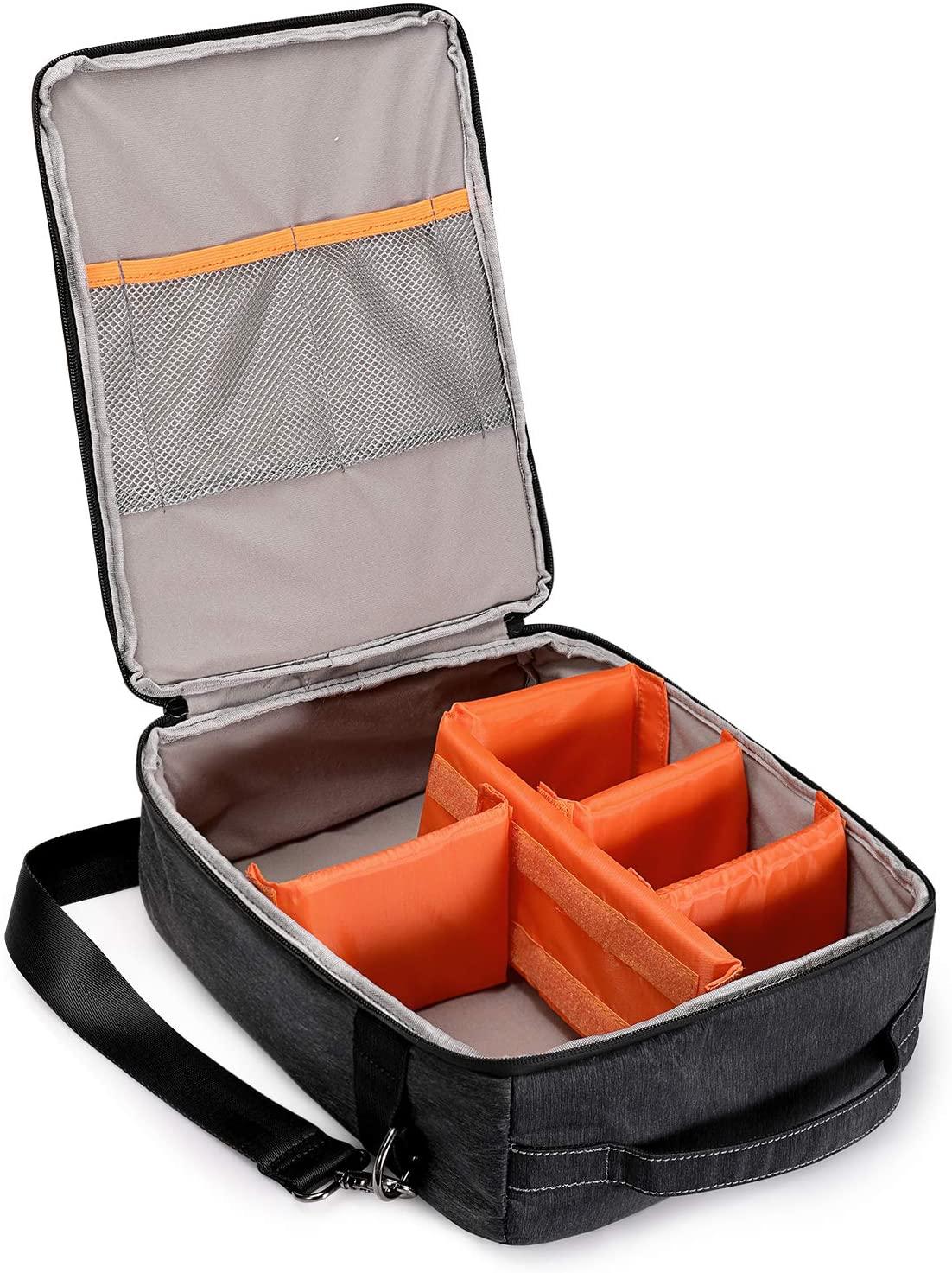 S-ZONE Water Resistant Camera Case Insert Bag Handle Shoulder Strap DSLR Camera Lens
