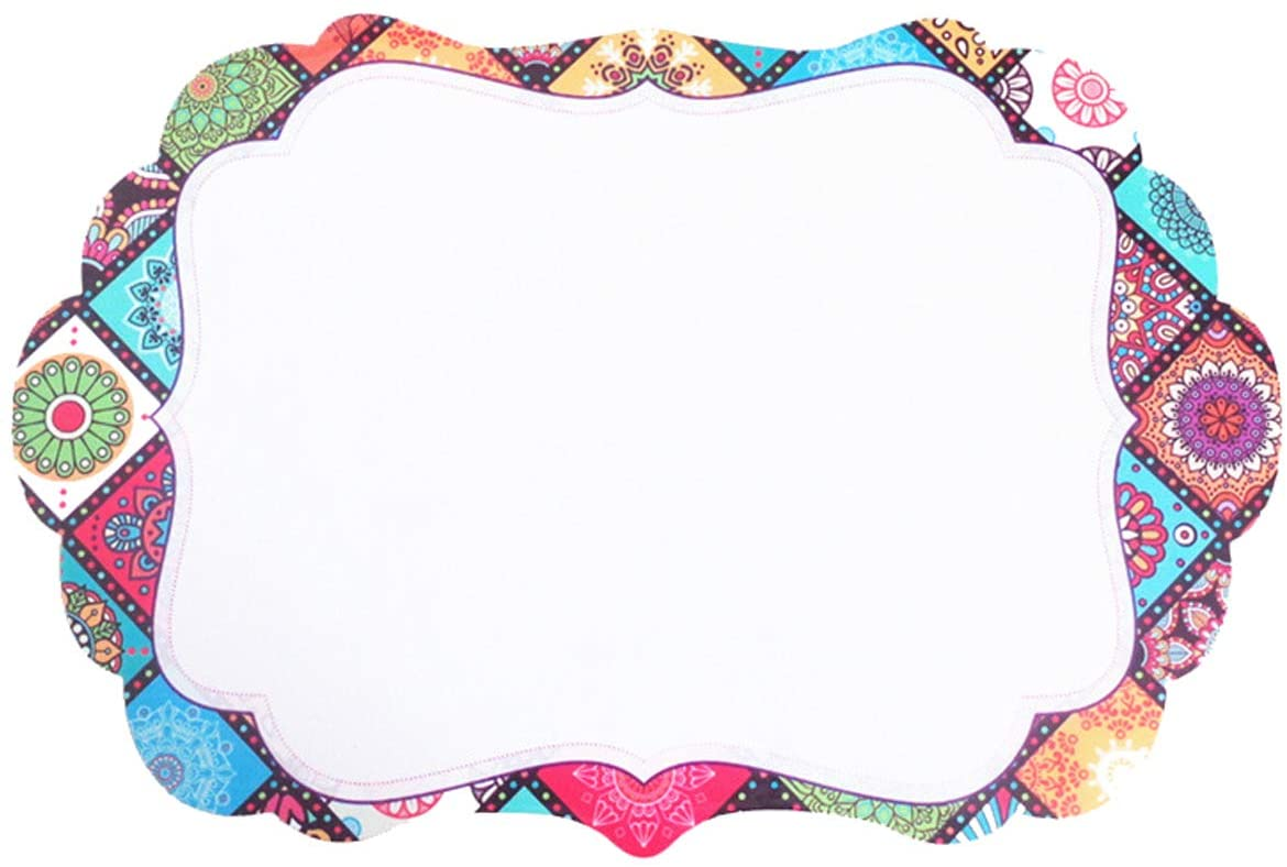 Minchsrin Magnetic message board Sheet Great for Fridge Minority Includes a Set of 8 Markers