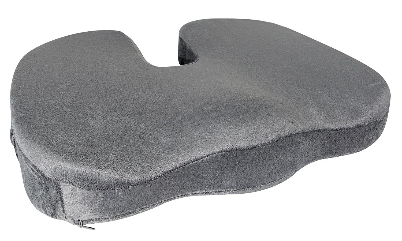 JIDA Orthopedic Comfort Memory Foam Seat Cushion, (Grey) …