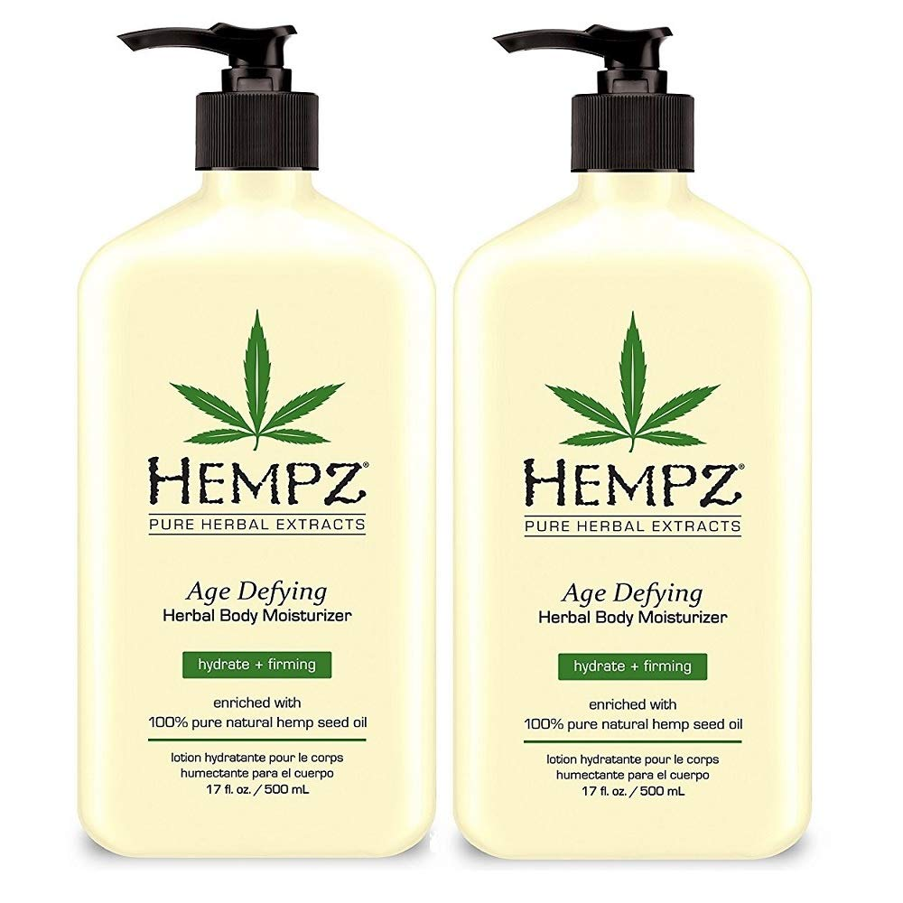 Hempz Age Defying Herbal Body Moisturizer 17 oz 2-Pack