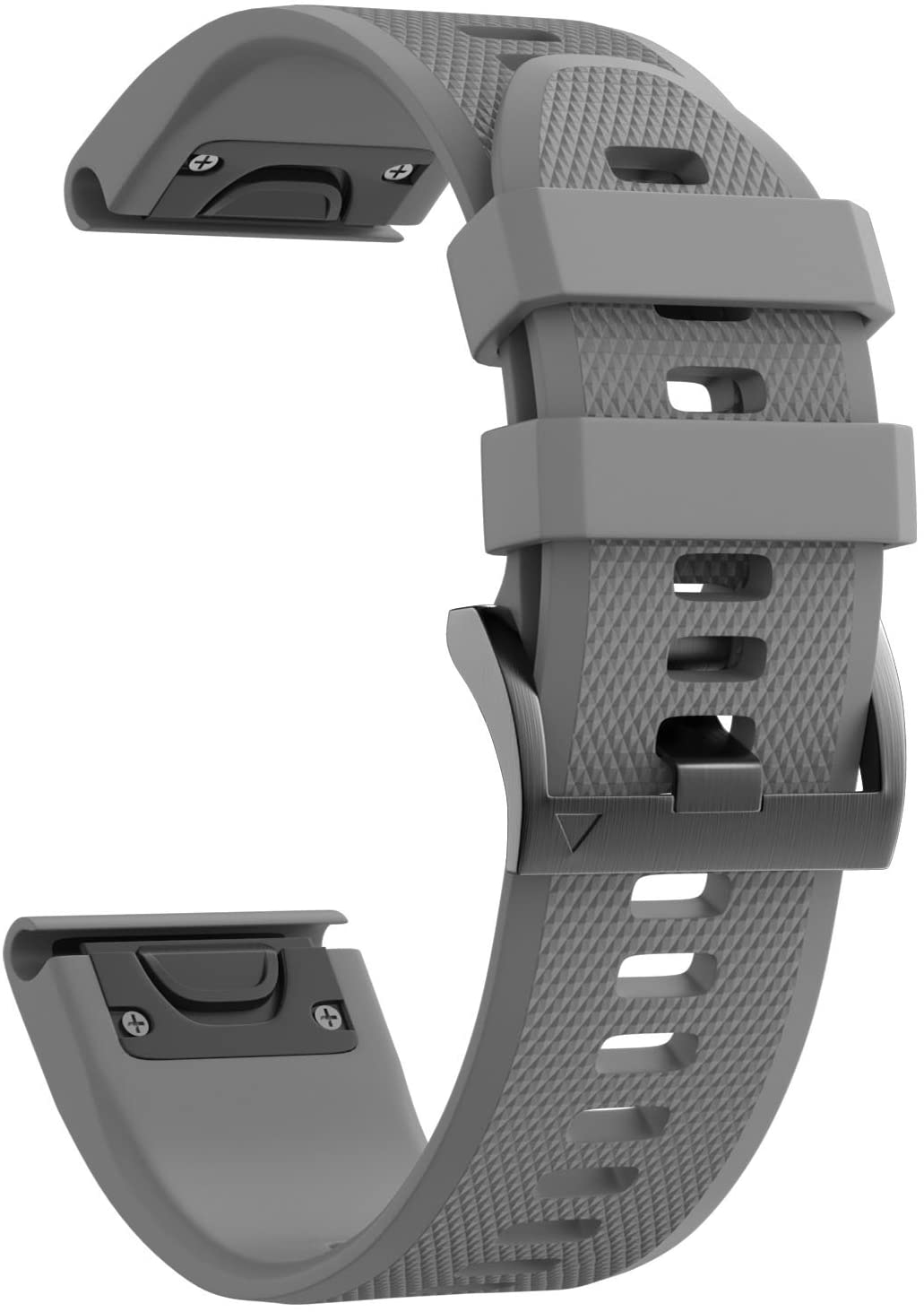 ANCOOL Compatible with Fenix 5X Band Easy Fit 26mm Width Soft Silicone Watch Bands Repalcement for Fenix 5X/Fenix 5X Plus/Fenix 3/Fenix 3HR Smartwatches - Grey