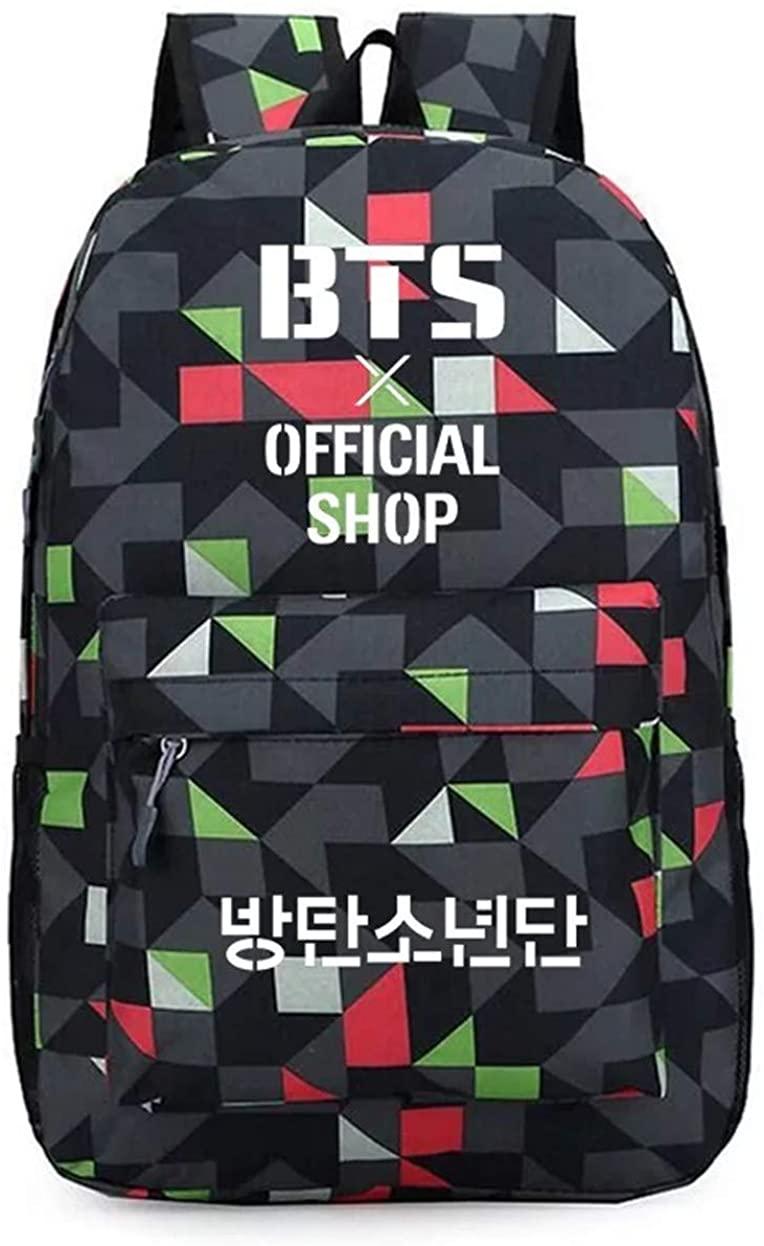 BTS Backpacks Laptop Bag Bookbag Canvas Backpack for School Travel Outdoor Summer Camp