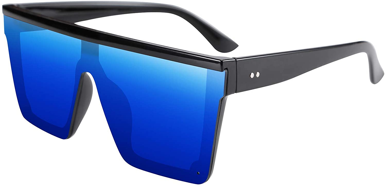 FEISEDY Fashion Siamese Lens Sunglasses Women Men Succinct Square Style UV400 B2470