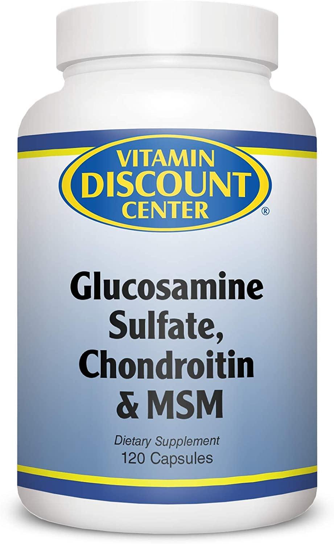 Vitamin Discount Center Glucosamine Sulfate, Chondroitin and MSM, 120 Caps