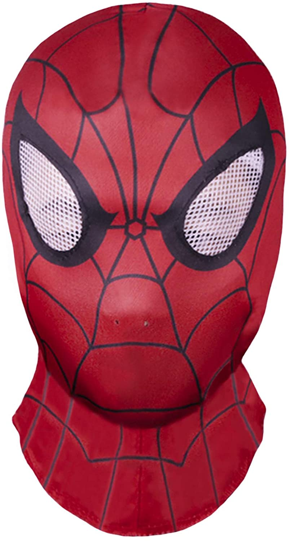 Superhero Premium mask, Superhero Costume Role-Playing Props Elastic Cloth Fabric Material Red