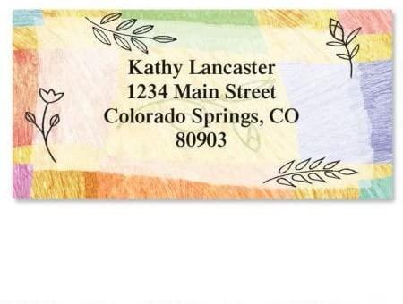 Personalized Awakening Easter Address Labels - Set of 144 Self-Adhesive, Flat-Sheet rectangle labels