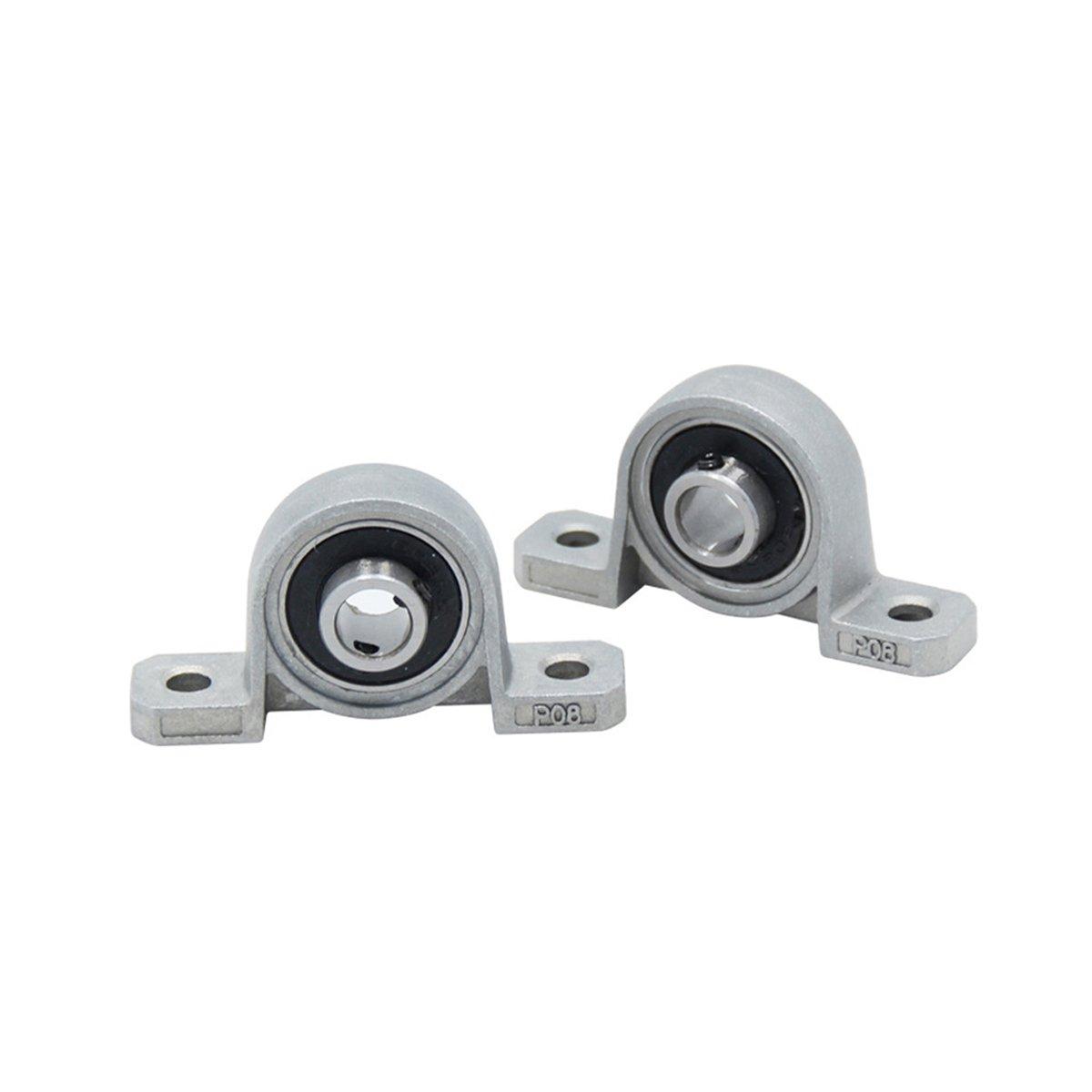 UEETEK 1 Pcs T8 8mm Inner Hole Horizontal Screw Rod Nut Shaft Mounting Support for 3D Printer,2.2 x 1.0 x 0.5 inch (L x W x H)