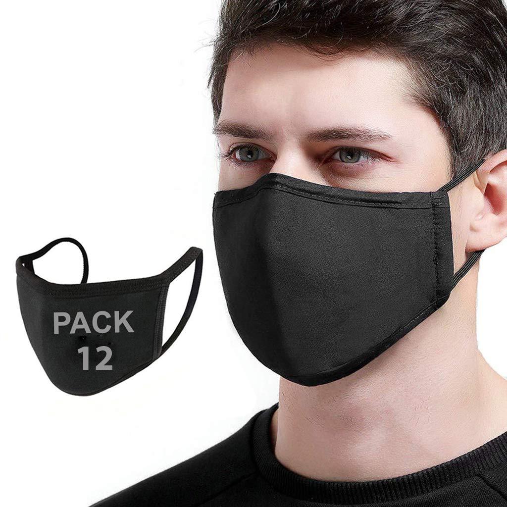 12 PCS Reusable Cotton Face_Mask, Cloth Washable Face_Masks, Dust_Mask for Face Covering
