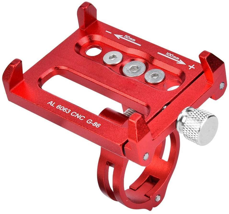 Vbest life Bike Phone Mount Bracket, Aluminum Alloy Cell Phone Bicycle Rack Handlebar & Motorcycle Holder Cradle(Red)