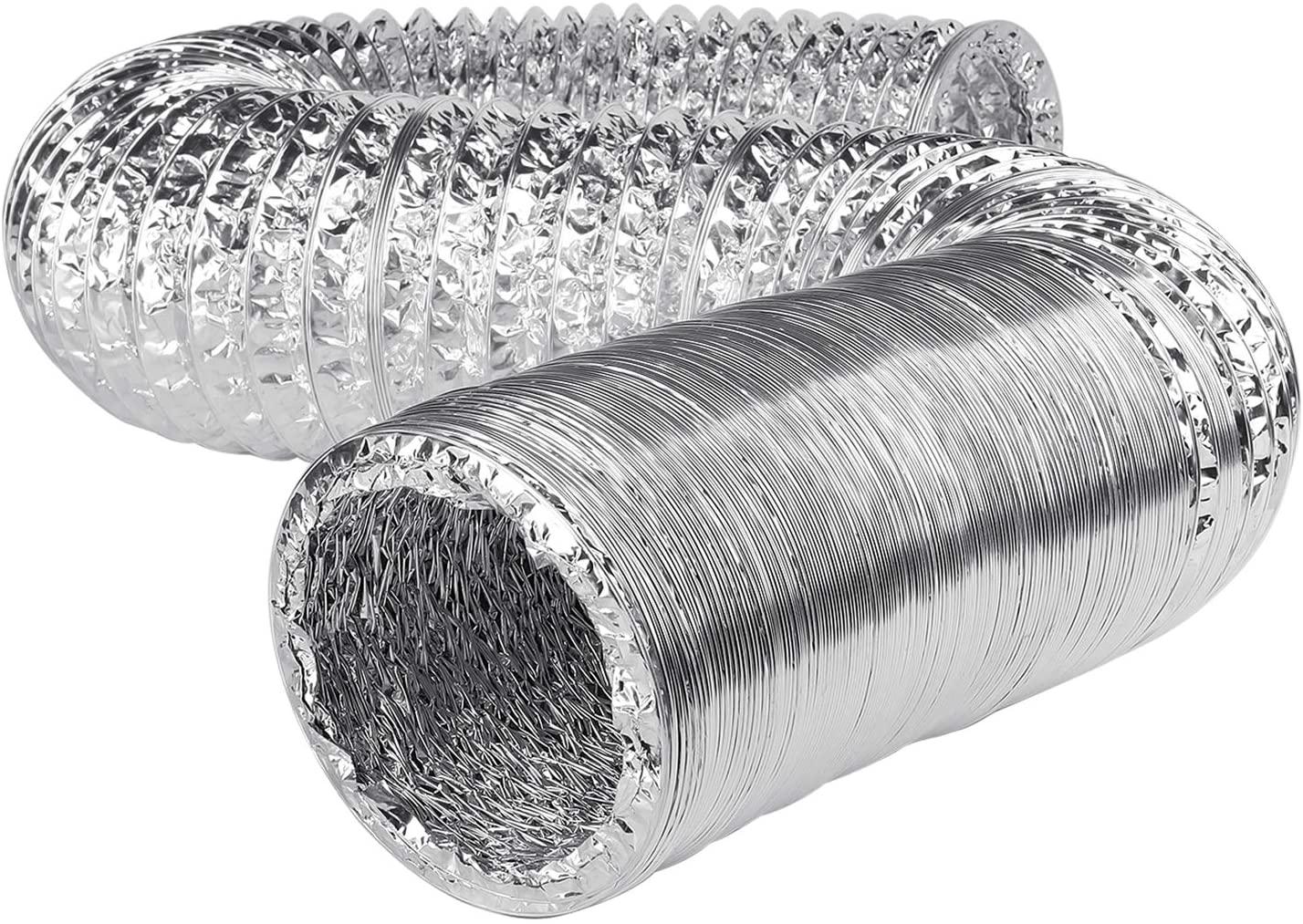 Flexzion Aluminum Ducting Dryer Vent Hose (4