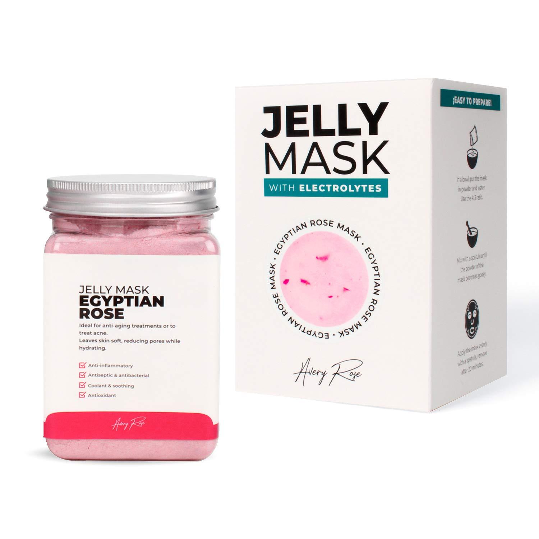 Avery Rose Peel-Off Egyptian Rose Jelly Mask Jar Face Care Rubber Mask | 17.6 fl oz Skin Care Moisturizing Gel Mask Jar Spa Set