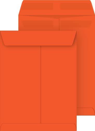 Orange 10x13 Catalog Envelopes, Press & Seal, 100-pack