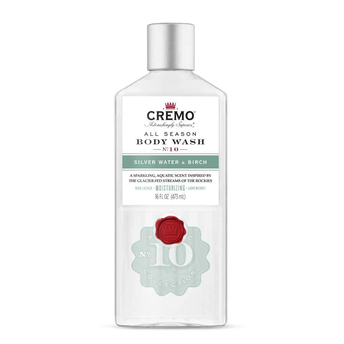 Cremo All Season Body Wash, Silver Water & Birch, 16 fl oz (Pack of 2)