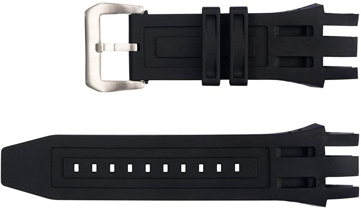 Vicdason for Invicta Subaqua Reserve Watch Bands Replacement Strap with Bukcle - Black Rubber Silicone Invicta Watch Strap
