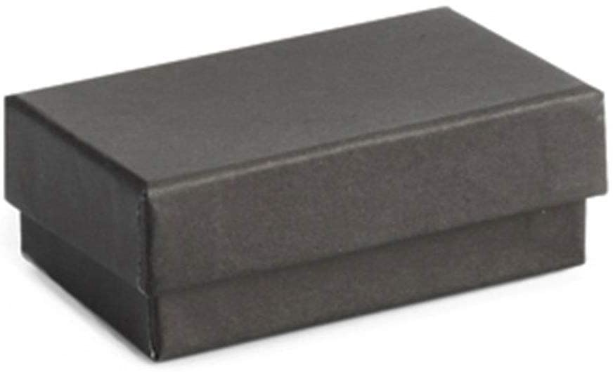 Cotton Filled Black Jewelry Boxes - 2 ½