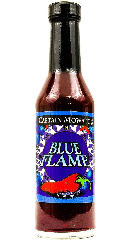 CAPTAIN MOWATTS Blue Flame Hot Sauce, 8 OZ