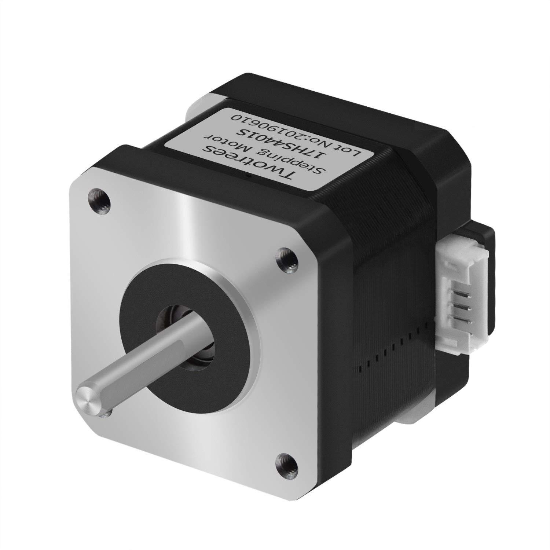 Twotrees Nema17 Stepper Motor, 4 Lead Stepper Motor Nema 17 Motor with 1m Cable 42BYGH 38MM 1.5A (17HS4401S) for CNC XYZ 3D Printer