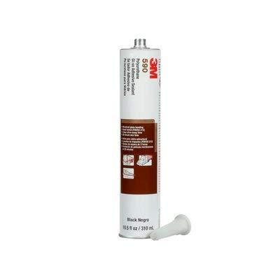 3M (590) OEM Polyurethane Glass Adhesive Sealant 590 Black, 310 mL Cartridge