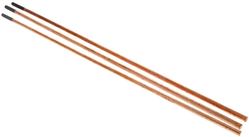 Utoolmart 355mm Length Arc Air Gouging Rods 5mm Dia Copper Coated Gouging Carbon Round Electrode Pointed Copperclad Carbon Welding Rod 3pcs