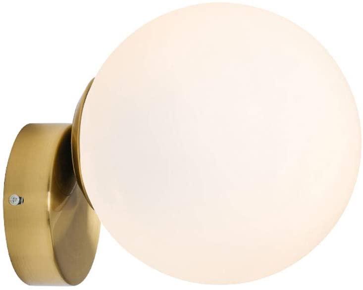 BOKT Modern Wall Lamp, Globe Wall Mounted Bedside Wall Lamp Bathroom Vanity Light Fixture(8 inch)