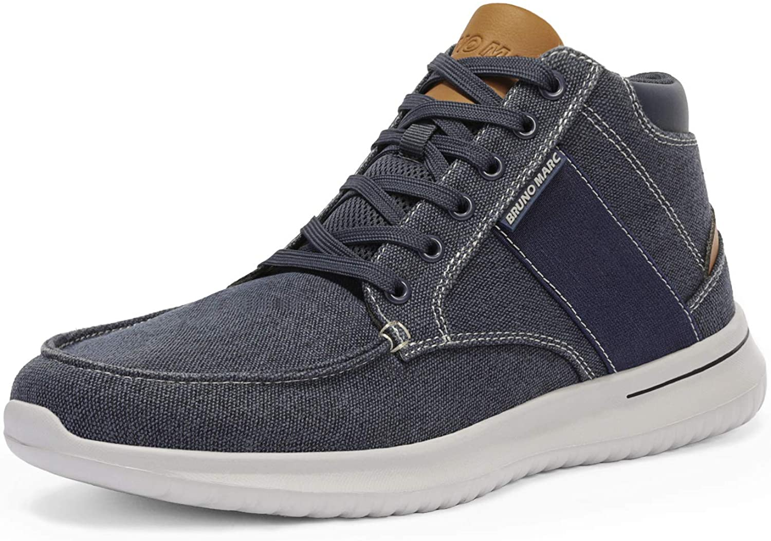 Bruno Marc Men's Casual High Top Sneakers Canvas Walking Shoes
