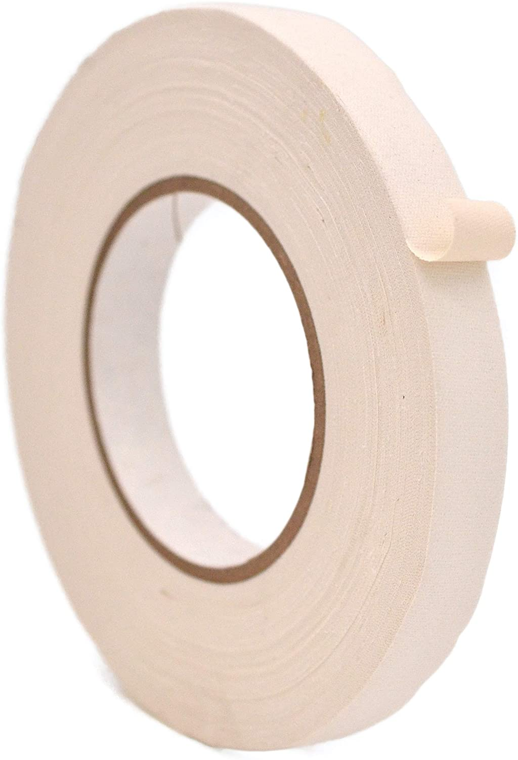 WOD GTMC12 Professional Grade Gaffer Tape, White - 1/2 inch x 50 yds. (96-Rolls) No Sticky Residue, Secures Cables, Non Reflective, Easy to Tear, Gaff Cloth for Trade Shows, Concerts