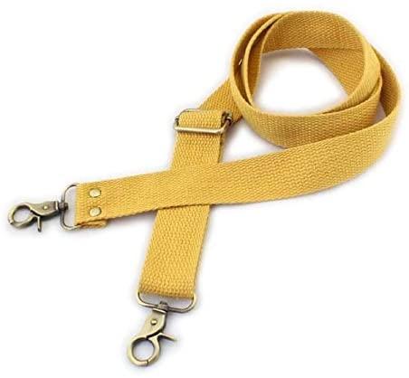 Wento 1pcs 31-57 Webbing Shoulder Cross Yellow Bag Strap,Replacement Cross Body Purse Straps,Yellow Canvas Purses Straps WTD34 (Yellow)
