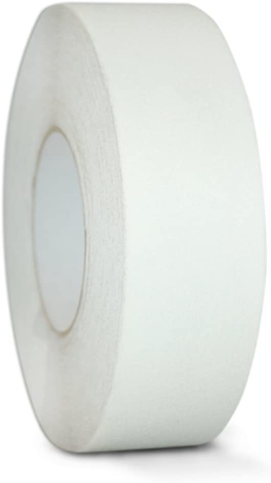 T.R.U. NST-20C Semi Translucent/Transparent Non-Skid Tape 6 in. wide x 60 ft. length Safety Way 60 Grit Anti Slip Traction Tape 32 Mil No Slip
