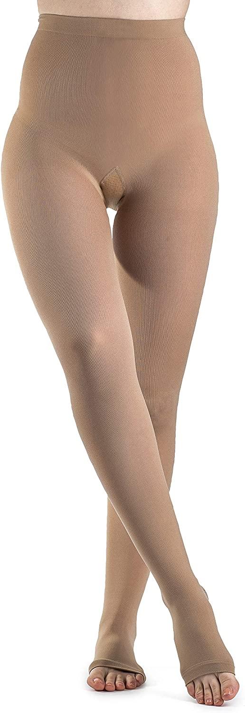 SIGVARIS Women's Style Soft Opaque 840 Open Toe Pantyhose 30-40mmHg