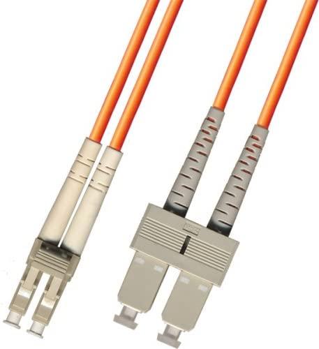 3 Meter Multimode Duplex Fiber Optic Cable (62.5/125) - LC to SC - Orange