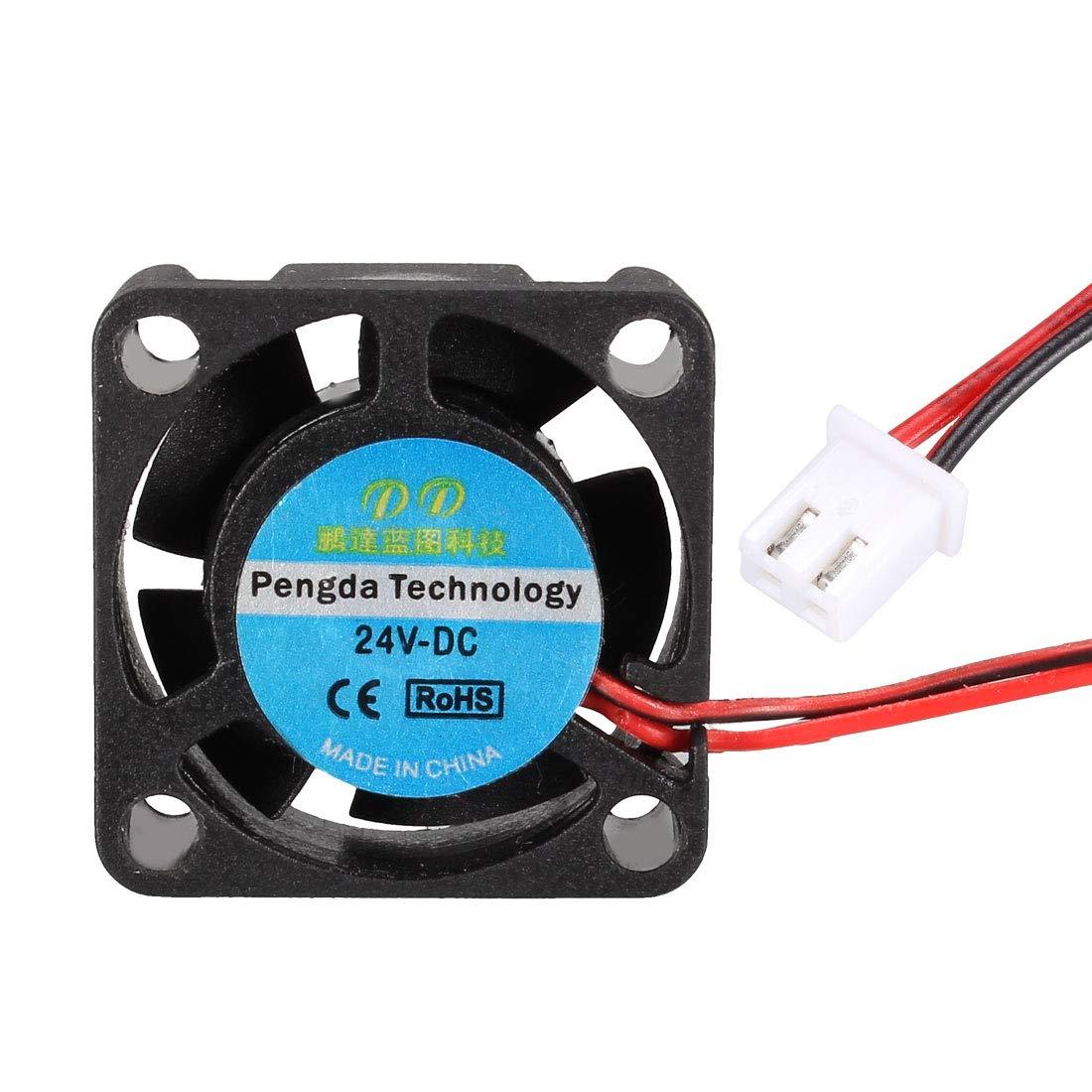 uxcell 25mmx25mmx10mm Cooling Fan DC 24V for 3D Printer Extruder Hotend 2pcs
