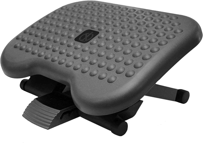 BUBM Adjustable Under Desk Footrest Comfy Rest, Ergonomic Foot, Pressure Relief for Comfort